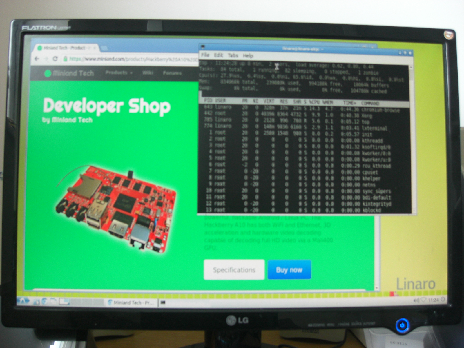 Tiny Devices: Hackberry A10 - Linaro 12 06 (Desktop)