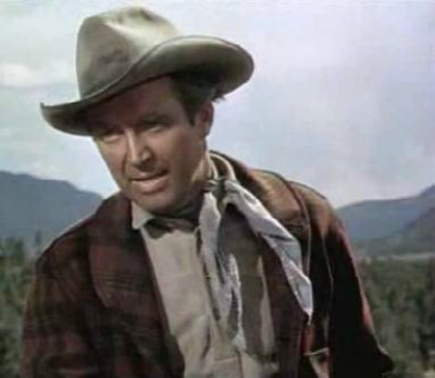 James Stewart as cowboy in screenshot for 1953 film The Naked Spur
