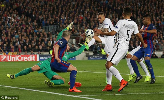 Barcelona Defeats PSG 6 -1 to go through after 4-0 1st leg result