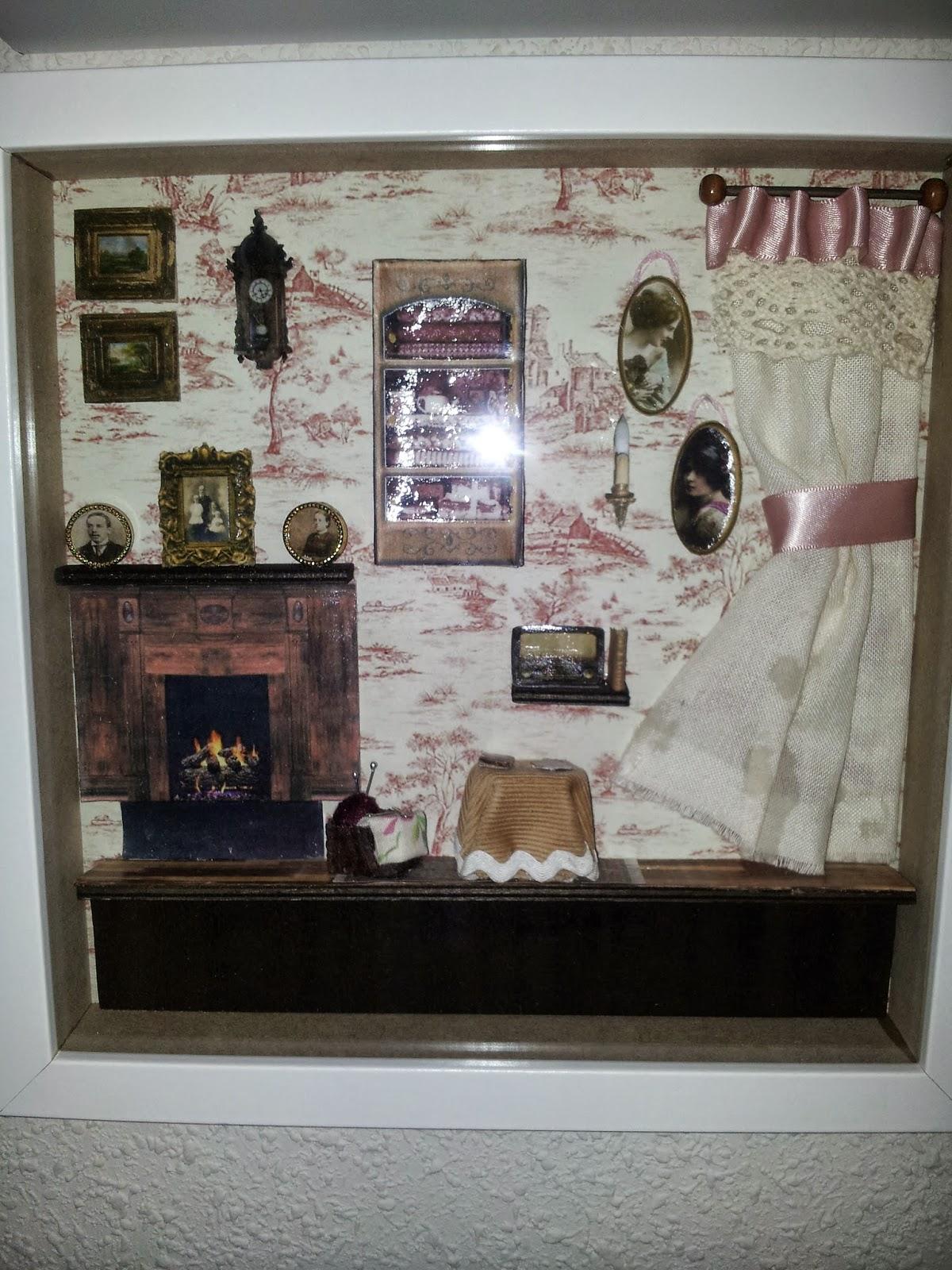 Cuadros de estancias vintage en miniatura isabel vintage - Cuadros con fotos familiares ...