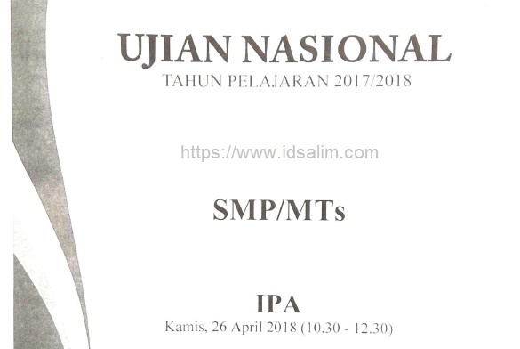 Soal UN IPA SMP 2018