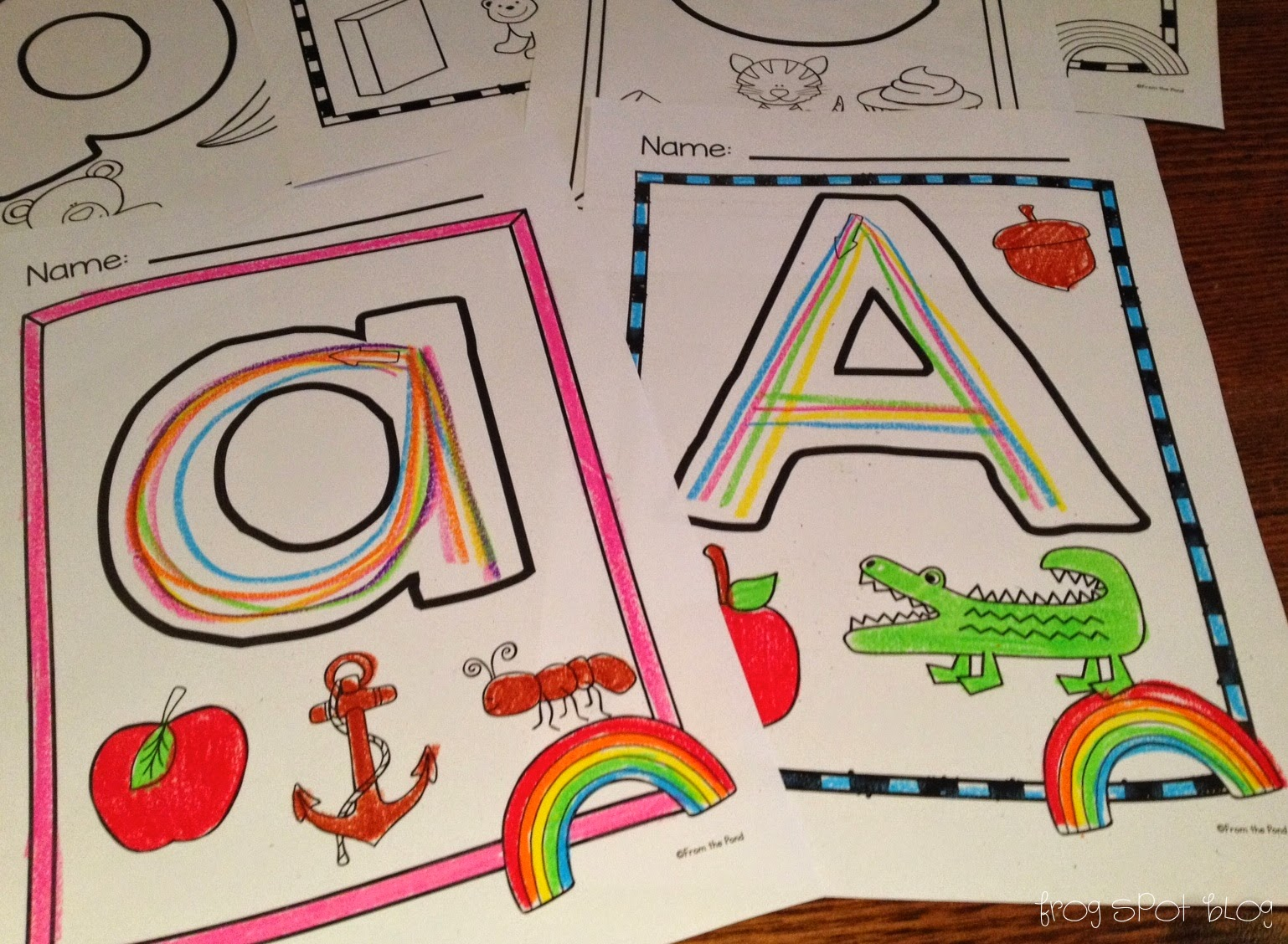 Rainbow Writing Letters Of Alphabet on U For Kindergarten Writing Worksheets