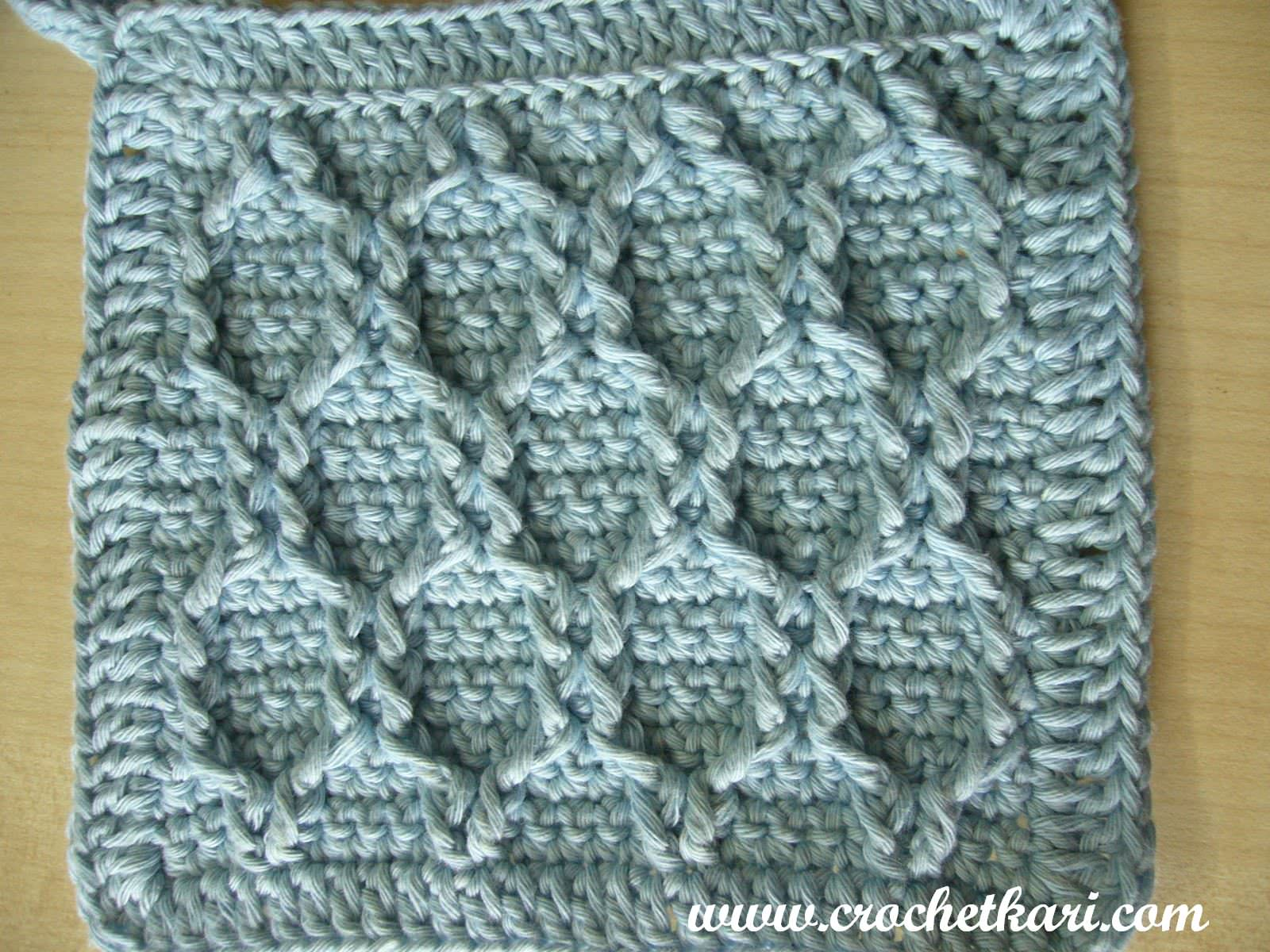 Crochetkari Crochet Honeycomb Washcloth