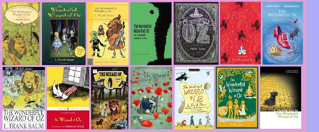 portadas del libro clásico El maravilloso mago de Oz, de L. Frank Baum