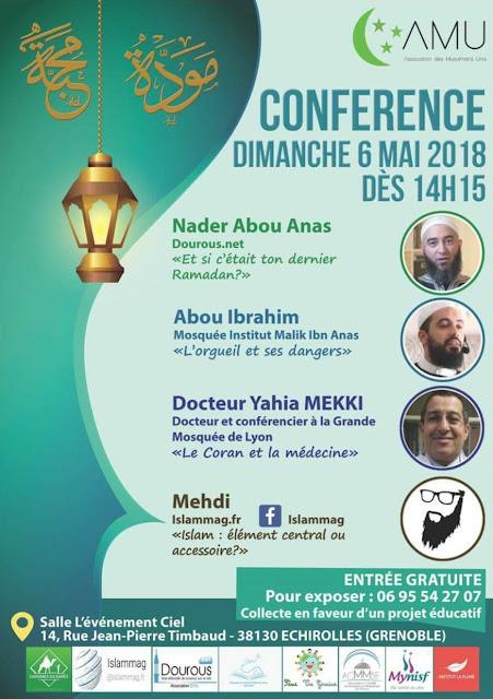 Le prédicateur salafiste Nader Abou Anas est invité à Echirolles