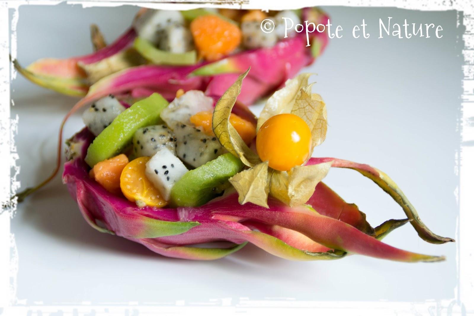 popote et nature salade de fruits exotiques au fruit du dragon. Black Bedroom Furniture Sets. Home Design Ideas