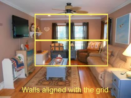photography 101 for real estate - align with the grid