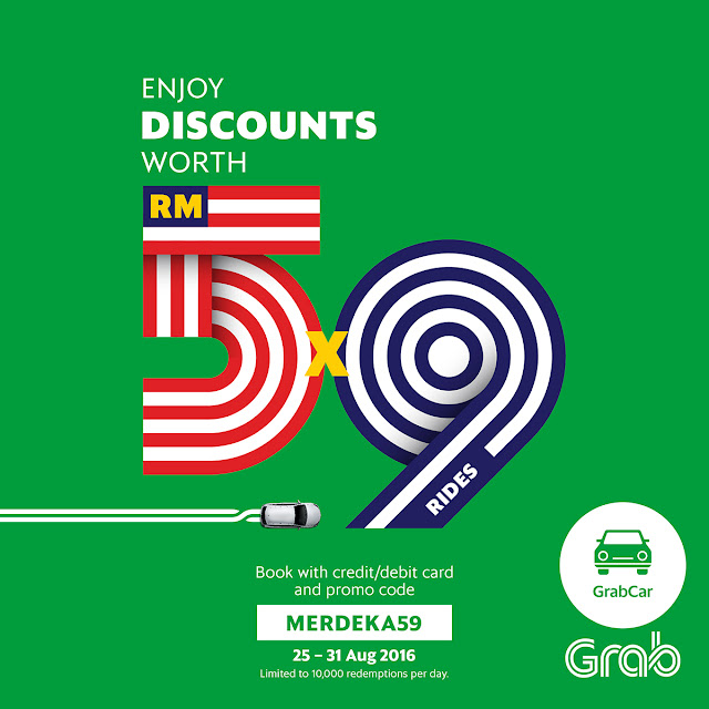 Grab Available in Malacca & Koto Kinabalu AND MERDEKA59 Promo Code
