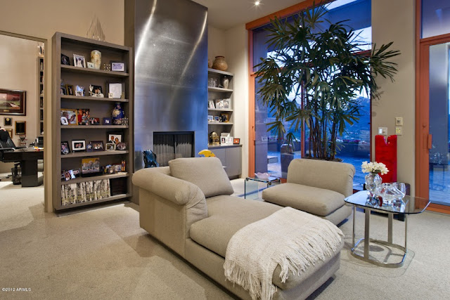 Sitting area in the desert house