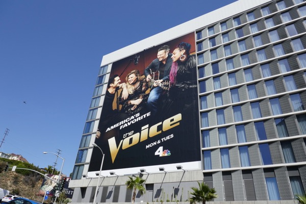 The Voice giant season 14 billboard