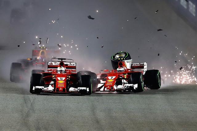 F1: Sebastian Vettel não teve sorte em Cingapura