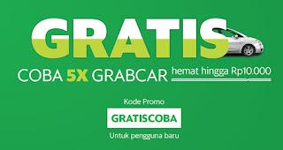 Promo GrabCar GRATISCOBA
