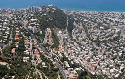 Colinas da cidade de Haifa - Israel