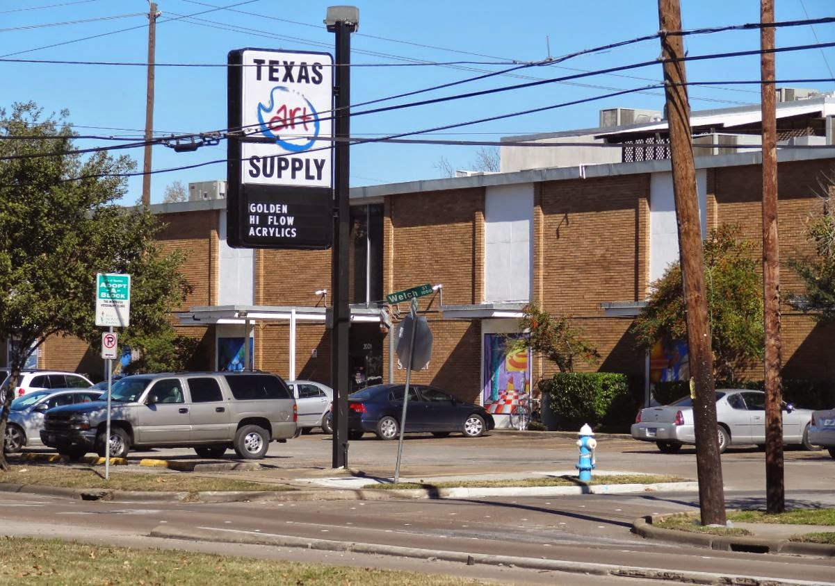 Texas Art Supply (photo of store on Montrose Blvd)