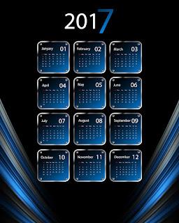 2017カレンダー無料テンプレート218