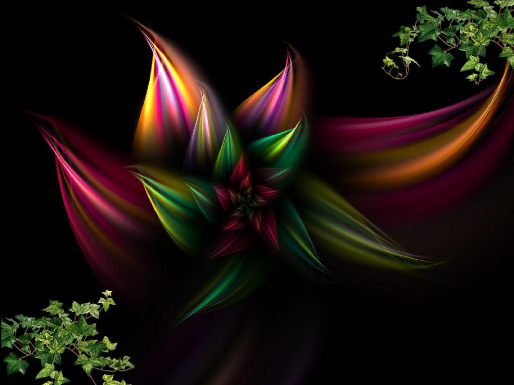 Wallpaper Hd Abstract Flowers