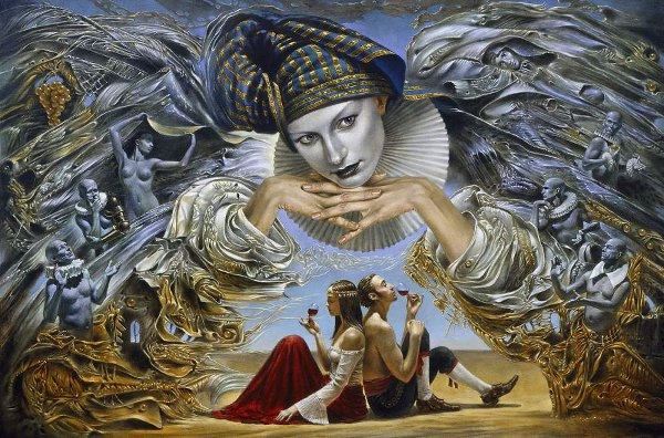 04-guardian-angel-Michael-Cheval-Surreal-Paintings-that-Draw-inspiration-from-The-East-and-West-www-designstack-co
