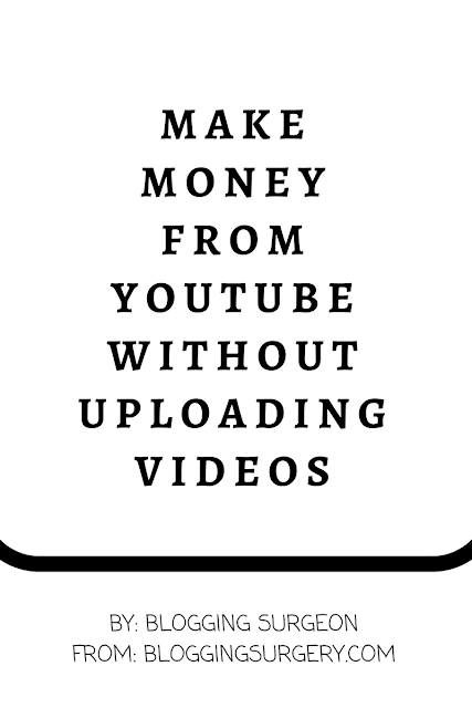 earn from youtube without videos