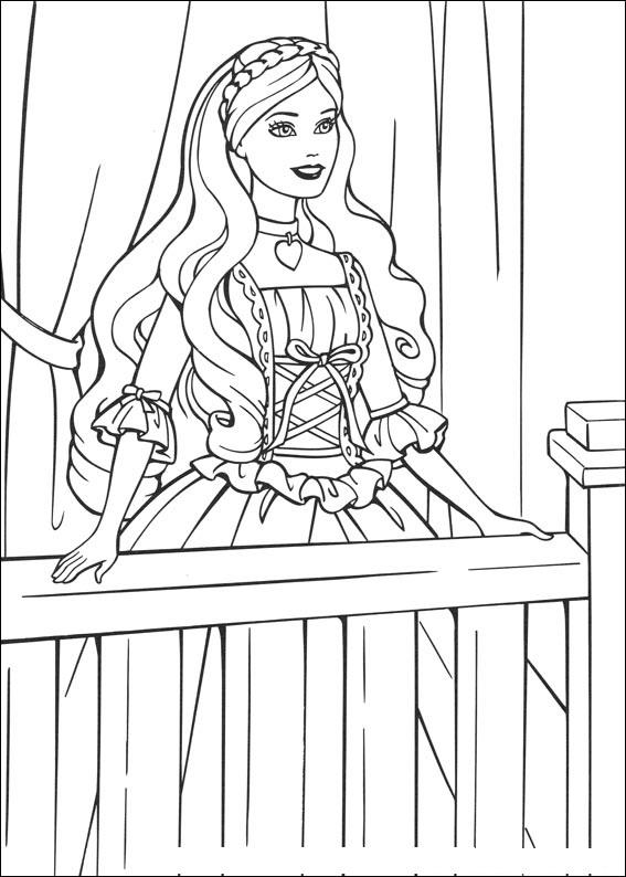 26 Desenhos De Barbie A Princesa E A Plebeia Para Colorir Pintar
