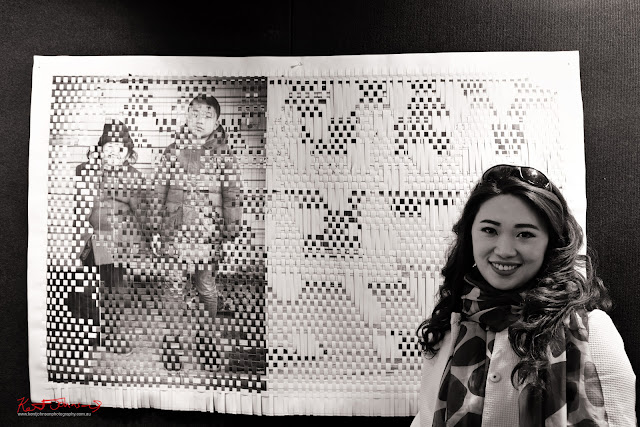 Tami Xiang with artwork at the Head On Hub - Photo by Kent Johnson for Street Fashion Sydney.