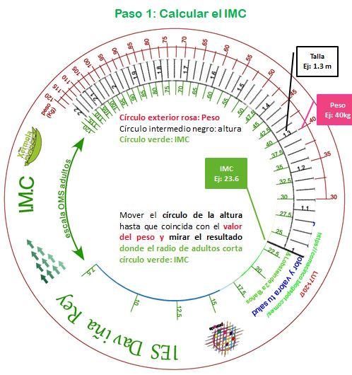 Comacinco: Regla de cálculo IMC universal