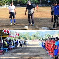 Tendangan Perdana Wakil Bupati Bima, Awali Turnamen Sepak Bola Bupati Cup 1 di Langgudu
