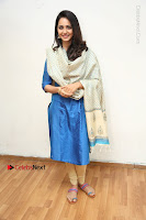 Actress Rakul Preet Singh Stills in Blue Salwar Kameez at Rarandi Veduka Chudam Press Meet  0080.JPG