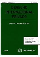 Garcimartín, F. Derecho internacional privado, 2016