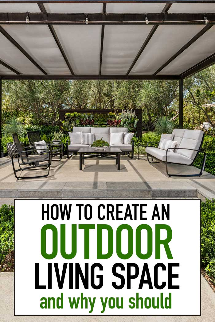 Create the outdoor living space of your dreams with these tips! Outdoor living inspiration and ideas to create a backyard living room your family will love. Whether you are hosting outdoor parties, planning outdoor dining, or just relaxing outside, you can find the outdoor furniture and accessories you need @greatgatherings. #ad