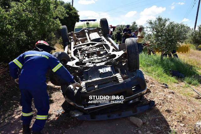 Εκτροπή ανατροπή αγροτικού οχήματος στην Αργολίδα με τραυματίες