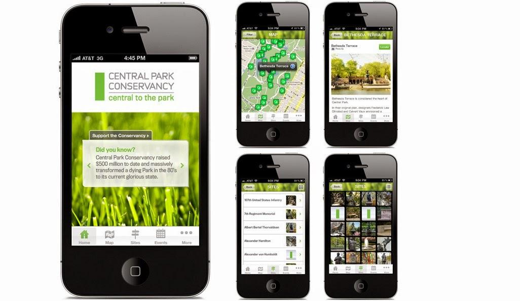 Aplicativo Central Park em Nova York