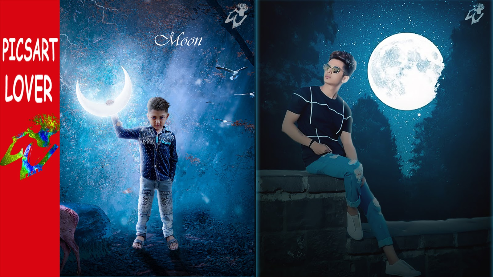 MOON LIGHT EDITING IN PICSART MANIPULATION BACKGROUND DOWNLOAD