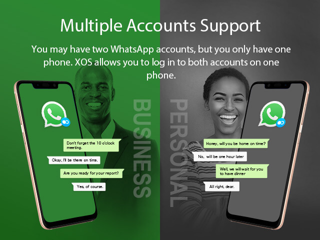 XOS 4 multiple account support on Infinix Hot 7