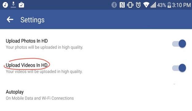 كيفية تفعيل ميزة فيسبوك الجديدة لرفع الفيديوهات بجودة عالية HD