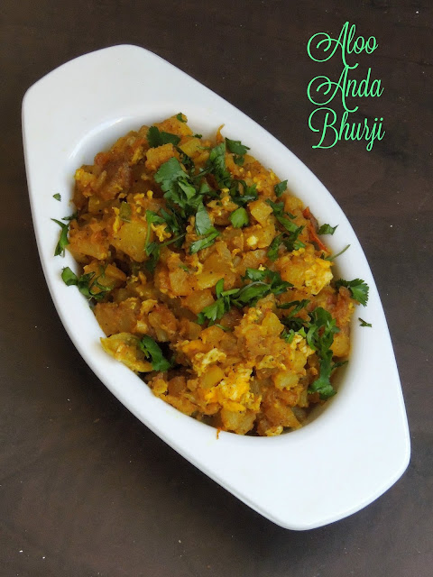 Aloo Anda Bhurji, Potato Scrambled Eggs