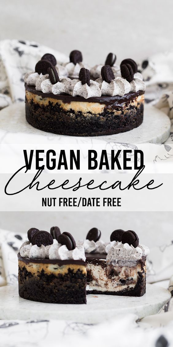 The Ultimate Baked Vegan Cheesecake  #dessert #baked #vegan #cheesecake