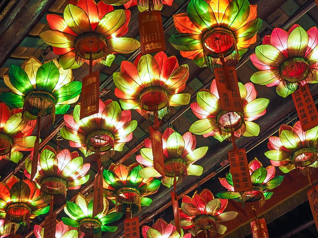 Lotus flower lanterns