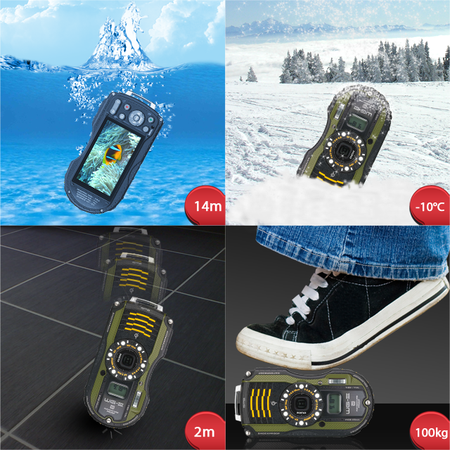 Pentax Optio WG-3, underwater camera, Full HD video, zoom lens, telephoto, underwater photography, new underwater camera