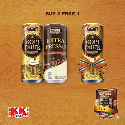 KK Mart WONDA Coffee Buy 2 Free 1