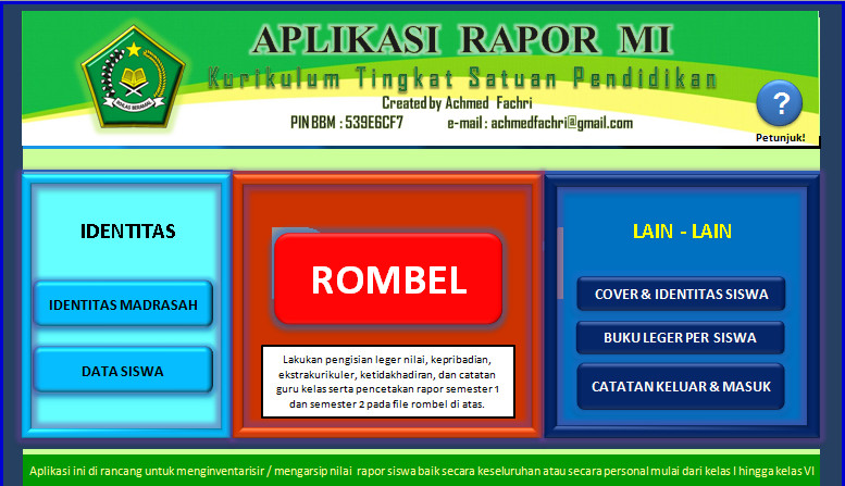 Download Aplikasi Raport KTSP MI Berbasis Ms. Excel Terbaru (New Update)