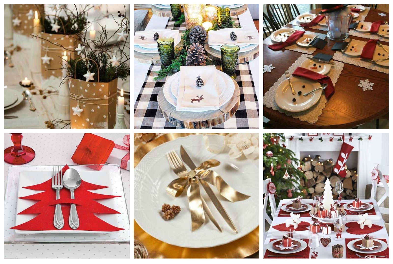 Tavola di natale tante idee fai da te donneinpink magazine - Addobbi natalizi per tavola da pranzo ...