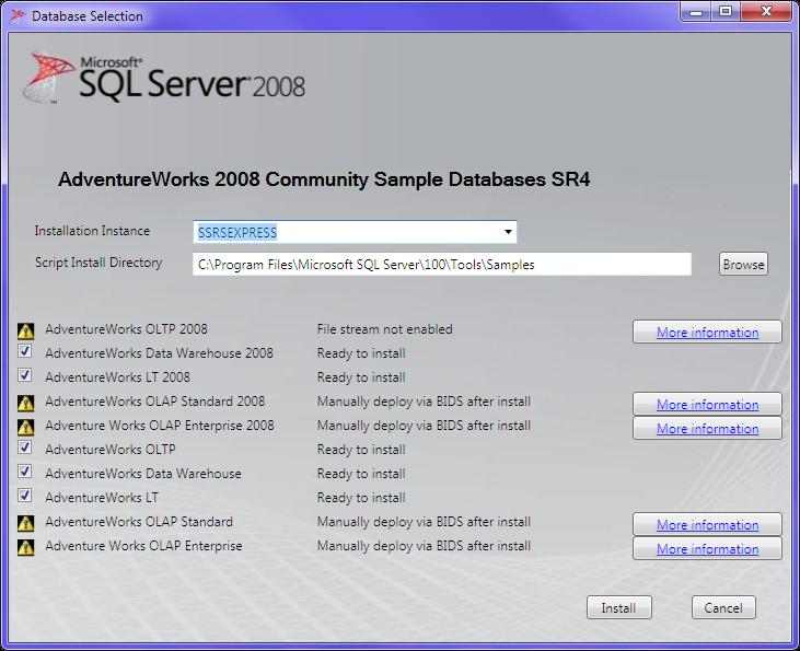 Lesson 3: Installing Sample databases (Adventure Works) | SSRS Tutorials