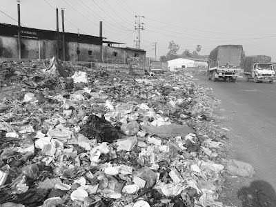 ग्रामपंचायतीचा कचरा रस्त्यावर,भिवंडीत स्वच्छता अभियानाचा फज्जा