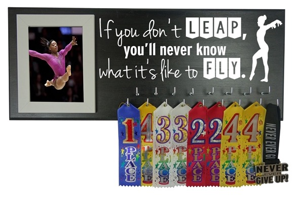 gymnastics medal ribbon holder hanger display gift gymnast stuff