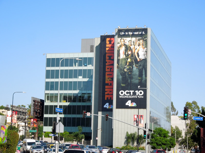 Giant Chicago Fire billboard Hollywood
