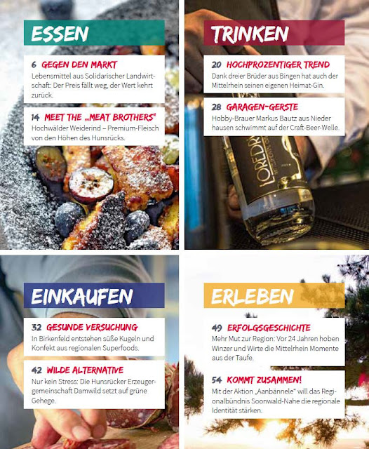 Genussregion Magazin - der Inhalt