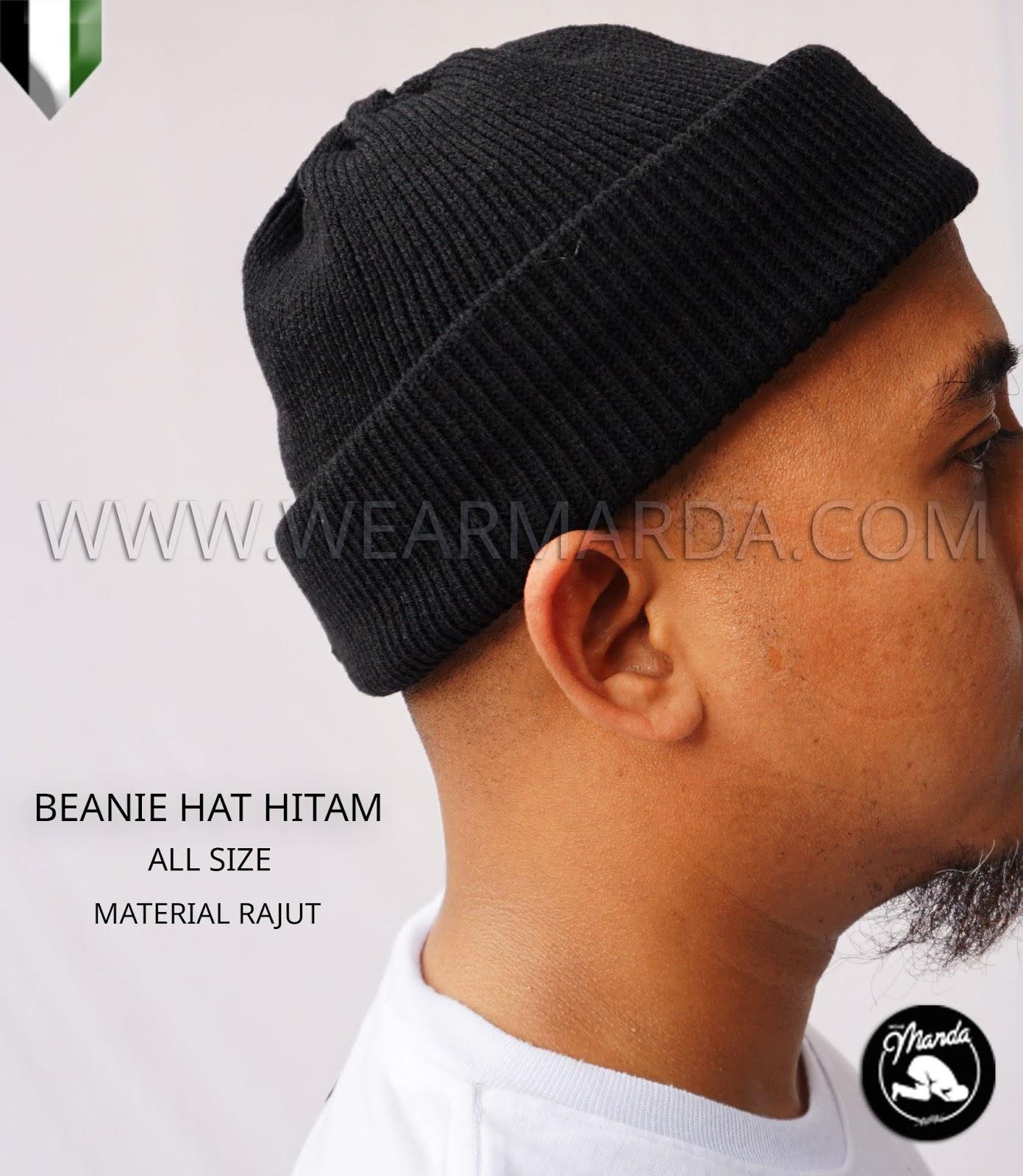 BEANIE HAT HITAM