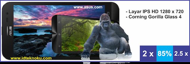 Corning Gorilla Glass 4 pada Asus Zenfone 2 Laser 5.0 ZE500KG