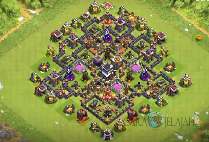 Base Trophy TH 8 di Clash Of Clans Terbaru Tipe 5