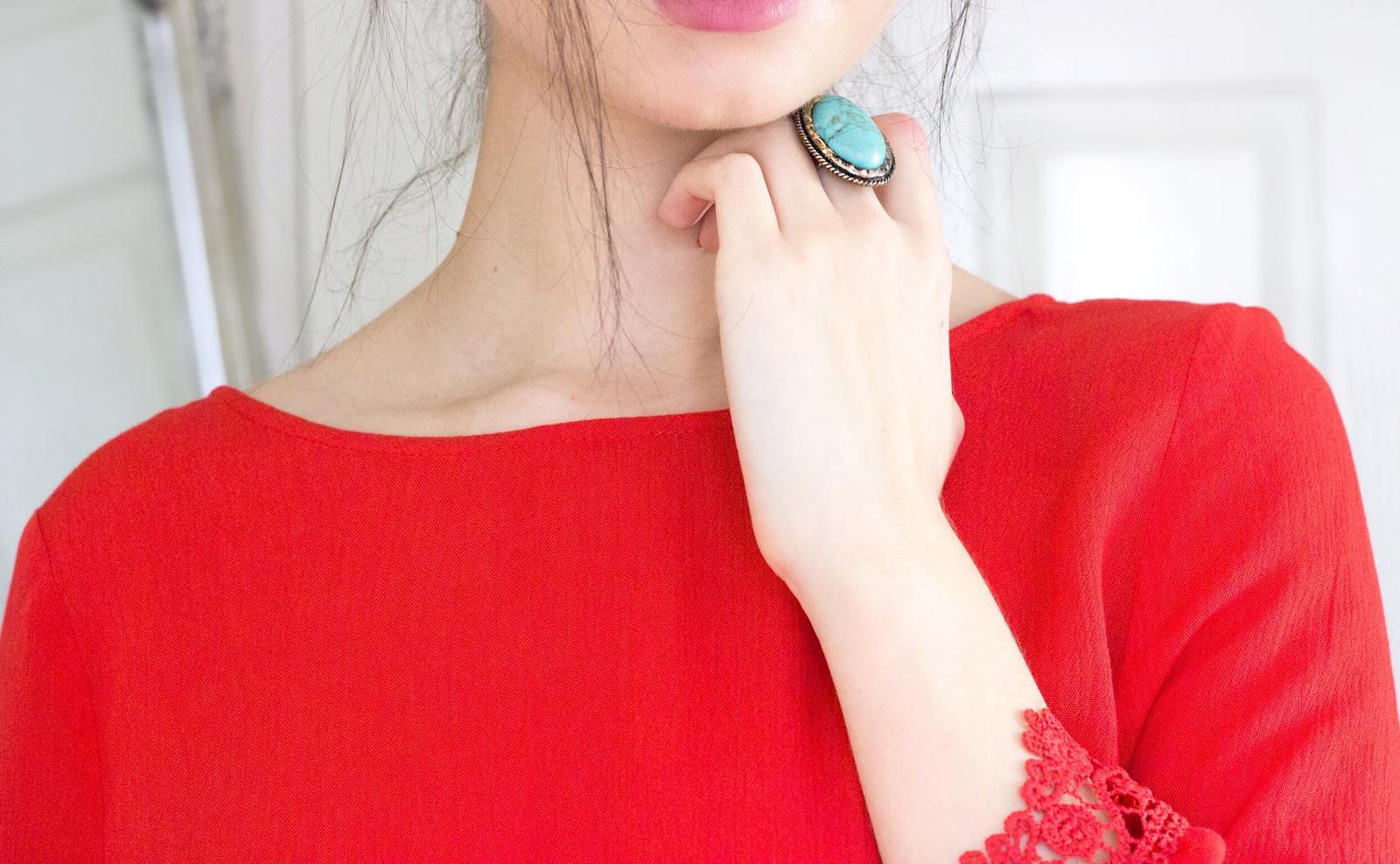 spring, summer, spring fashion, summer fashion, coachella, coachella fashion, hm, h&m, red blouse, lace blouse, british blogger, beauty blogger, fashion blogger, lifestyle blogger